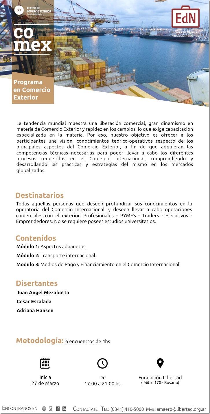 Programa De Especializaci N En Comercio Exterior De La Fundaci N Libertad Ccer